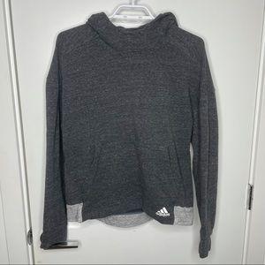 Adidas grey hoodie w/unique design